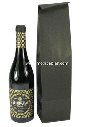 250 Wijnzakken zwart