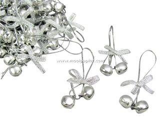 100 Kerstbelletjes zilver