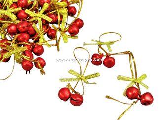 100 Kerstbelletjes rood