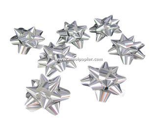 100 Midistarbows zilver