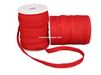 Jute band 12 mm Rood