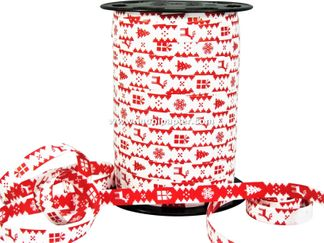 Kerstlint 10 mm rood