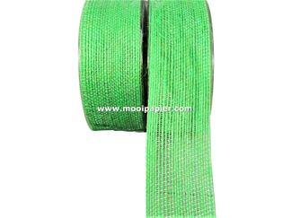 Jute band 40 mm Groen