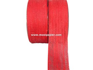 Jute band 40 mm Rood