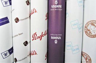 Vloeipapier met naam bedrukt in kleine oplage