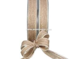 Jute band 15 mm wit