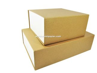 25 Magneetdoos  23x23x11 cm VPD090 Kraft/wit